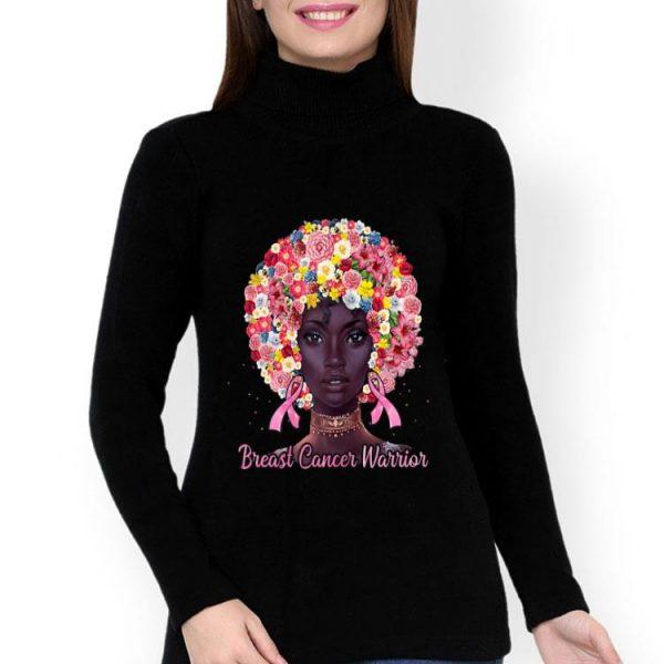 Black Woman Breast Cancer Warrior Flowers shirt