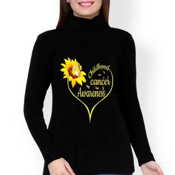 Childhood Cancer Awareness Flower Butterfly Gold Ribbon shirt