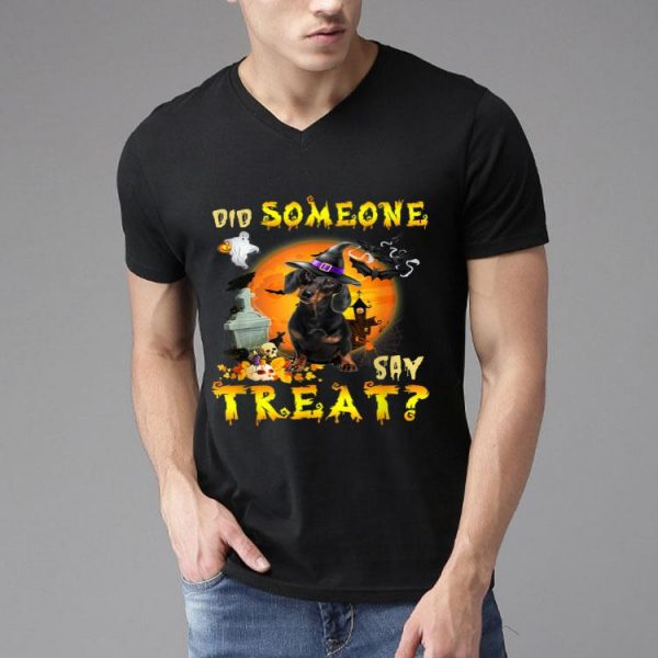Dachshund Did Someone Say Treat Halloween Costume shirt