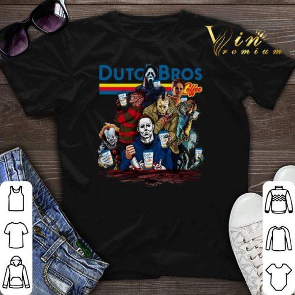Dutch Bros Coffee Horror movie characters shirt sweater