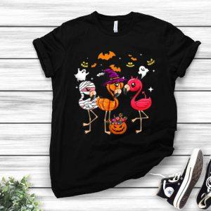 Flamingo Happy Halloween Flamingo Witch Hat shirt