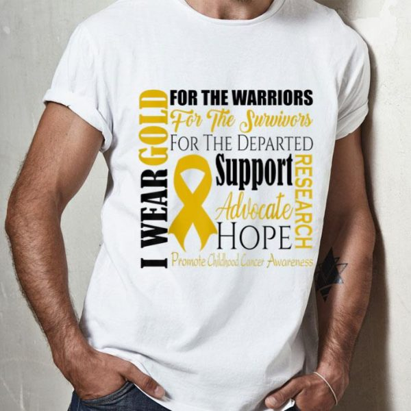 For The Warriors Childhood Cancer Awarenes Support Hope shirt