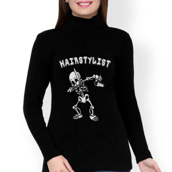 Hairstylist Dabbing Skeleton Halloween Costume shirt
