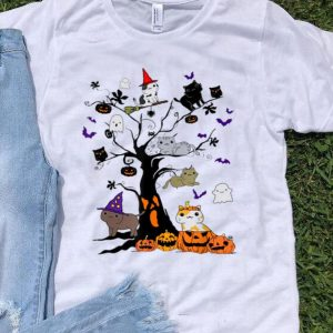 Hallowen Cat On Tree Halloween Costume shirt