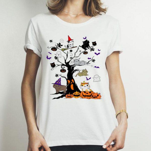 Hallowen Cat On Tree Halloween Costume shirt