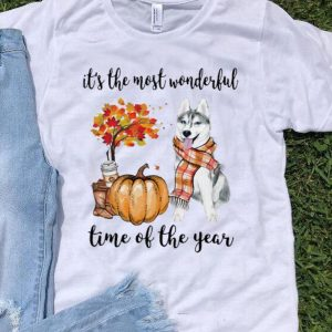 Husky It's The Most Wonderful Time Of The Year Halloween shirt