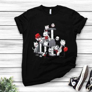 I Love Cats Horror Kitties Halloween Horror Character shirt