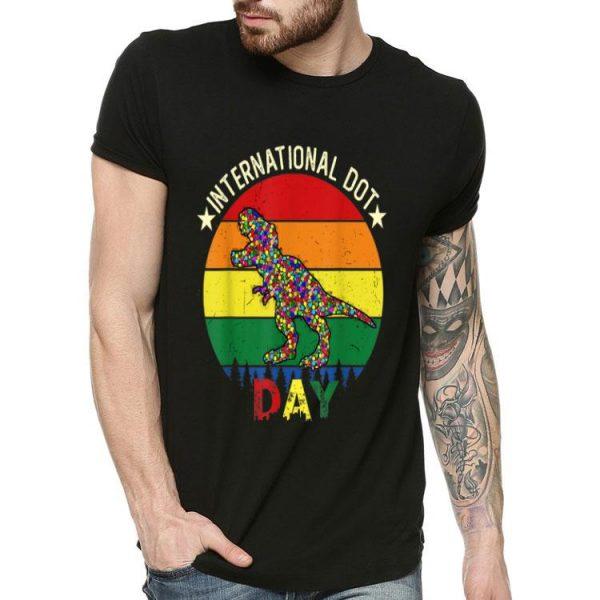 International Dot Day T-rex Dinosaur shirt