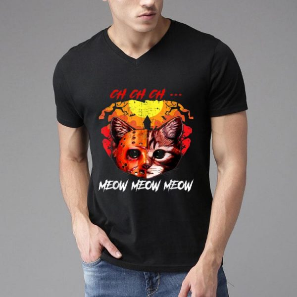 Jason Voorhees Ch Ch Ch Meow Meow Halloween Scary Cat shirt