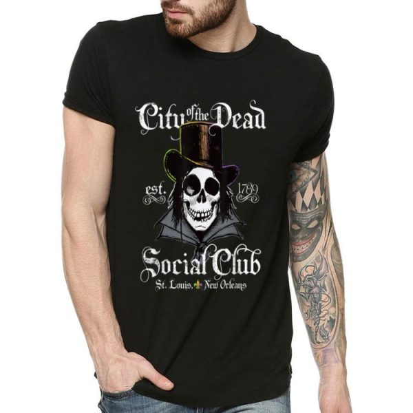 New Orleans City Of The Dead Doctor Goth Skull Halloween shirt