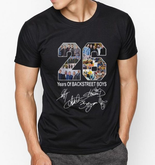 Official 26 Years Of Backstreet Boys Signature shirt