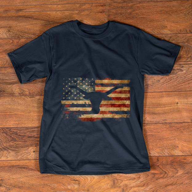 Official Vintage American Flag Longhorn shirt 1 - Official Vintage American Flag Longhorn shirt