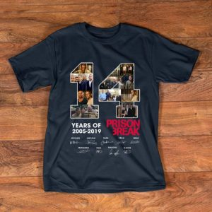 Original 14 Years Of Prison Break 2005 2019 signature shirt