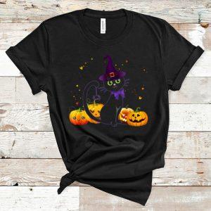 Original Happy Halloween Spooky Pumpkins Halloween Cat shirt