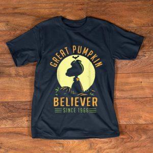 Original Snoopy Great Pumpkin Halloween Believer Since 1966 shirt