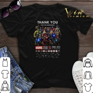 Signatures Thank you for the memories Marvel Studios 2008-2022 shirt
