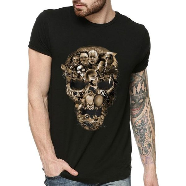 Skull Horror Movie Characters Halloween shirt