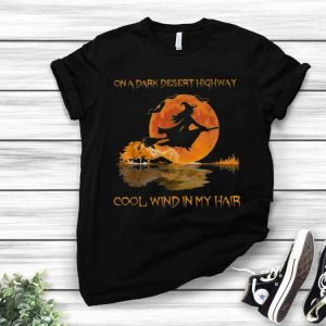 Witch On A Dark Desert Highway Guitar Lake Halloween shirt