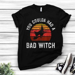 You Coulda Had a Bad Witch Retro Vintage Sunset shirt
