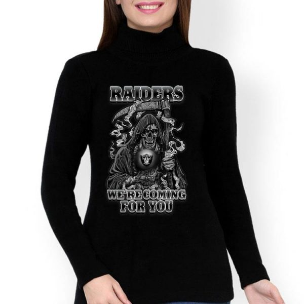 Halloween Oakland Raider We're Coming For You NFL shirt