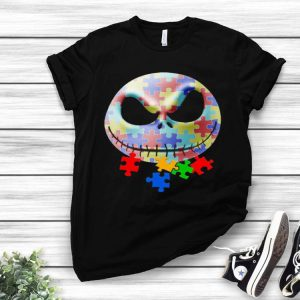 Autism Jack Skellington Face The Nightmare Before Christmas shirt