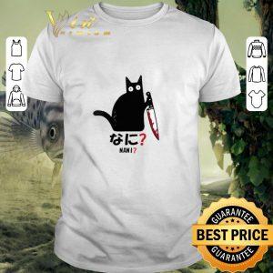 Best Cat nani black cat with knife shirt