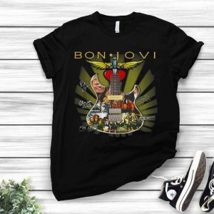 Bon Jovi Signatures Guitar shirt