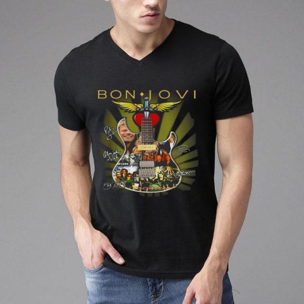 Bon Jovi Signatures Guitar shirt