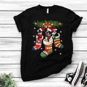 Boston Terrier In Sock Christmas Santa Dog Lover shirt