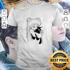 Cheap Sailor Moon Kae Araki hug Luna shirt