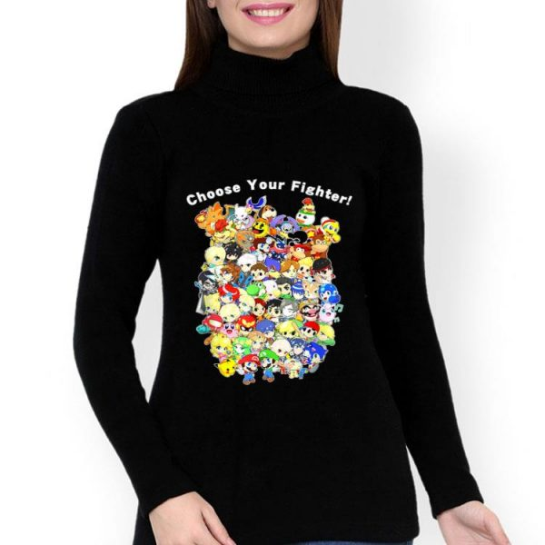 Choose Your Fighter Cartoon And Game Character shirt