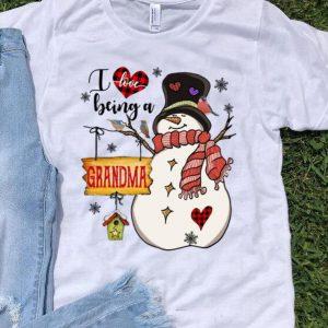 Christmas I Love Being A Grandma Snowman shirt
