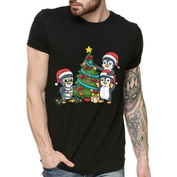 Christmas Penguin Christmas Tree Lights shirt