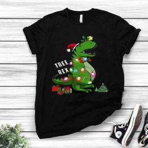 Christmas Tree T-rex Dinosaur shirt