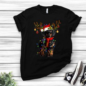 Dachshund Christmas Reindeer Christmas Lights shirt