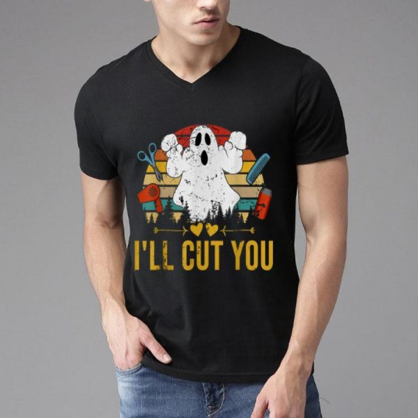 Halloween Boo Ghost I'll Cut You Vintage shirt