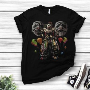 Halloween Scary Circus Evil Clown With Balloons shirt