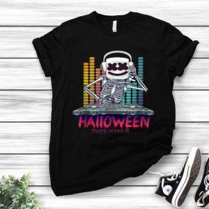 Halloween Trick Or Treat Dancing Dj Goofy Marshmallow shirt