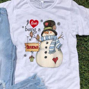 I Love Being A Grandma Snowman Merry Christmas shirt