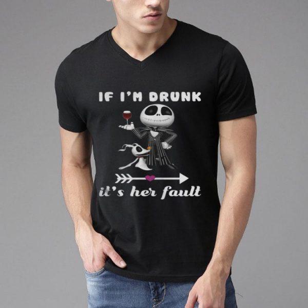 If Im Drunk Its Her Fault Jack Skellington And Dog shirt