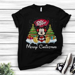 Mickey Mouse Dr Pepper Merry Christmas shirt