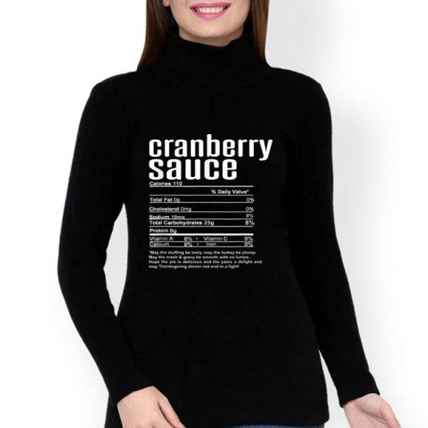 Nutritional Facts Cranberry Sauce Thanksgiving shirt