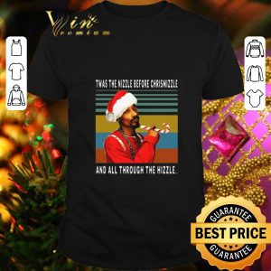 Pretty Snoop Dogg Twas the nizzle before christmizzle vintage shirt