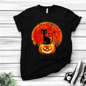Pumpkin Moon Black Cat Halloween Costume shirt