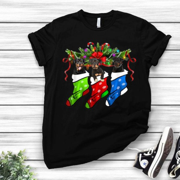 Rottweiler In Sock Christmas Merry Xmas shirt