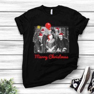 Santa Horror Characters Merry Christmas shirt