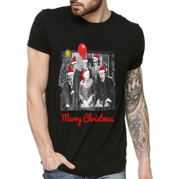 Santa Horror Characters Merry Christmas shirt