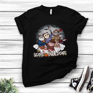 Scare Bulldogs Horror Characters Halloween shirt