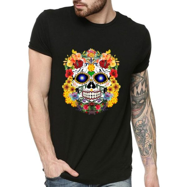 Sugar Skull Of Flowers shirt