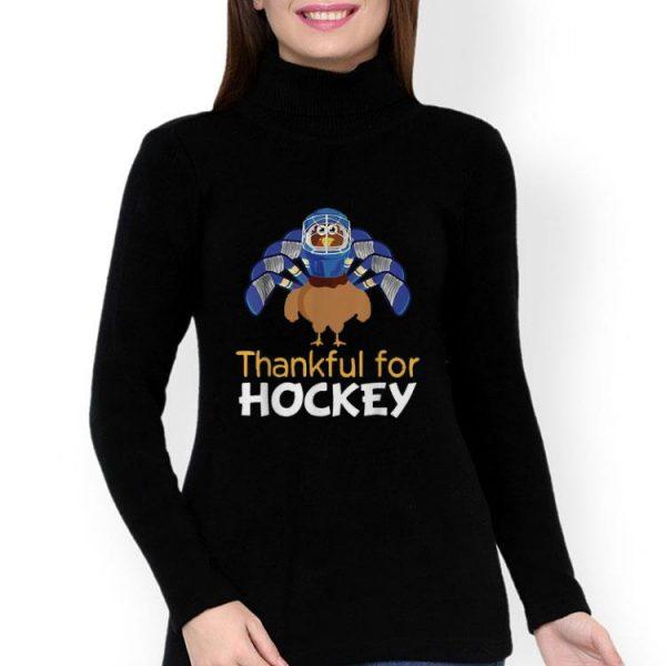 Thankful For Hockey Turkey Thanksgiving shirt